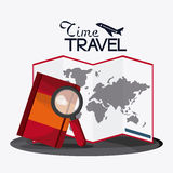 Trip implements. Time to travel design. Vector graphic Royalty Free Stock Images