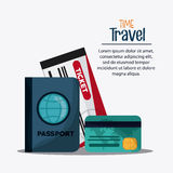 Trip implements. Time to travel design. Vector graphic Stock Image