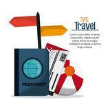 Trip implements. Time to travel design. Vector graphic Royalty Free Stock Photos