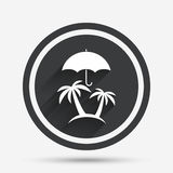 Trip insurance sign icon. Safe travel symbol. Stock Photos