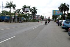A trip from the kudus city to the city of pati in Central Java, Indonesia