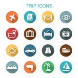 Trip long shadow icons Stock Photo