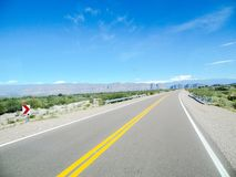 A beautiful valley of mountains by Ruta 40 Mendoza Argentina. On a trip of the most epic, I could enjoy unforgettable views. Mendoza, near a pass between Royalty Free Stock Images