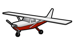 Trip plane. Illustration of vector air plane Royalty Free Stock Images