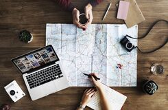 Trip planning Stock Photo