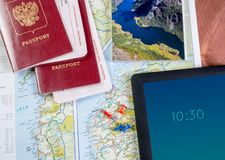 Trip planning. Concept for tourism future travel planning royalty free stock photography