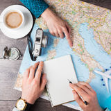 Trip planning instagram style Stock Photos