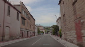 A trip from Pternopoli to Minturno. Rural roads of Italy, Italy. May 2015 car trip accelerated video Autotravel from Pternopoli to Minturno stock footage