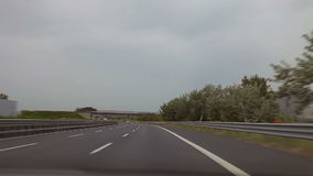 A trip from Pternopoli to Reggia di Caserta. Rural roads of Italy, Italy. May 2015 car trip accelerated video Autotravel from Pternopoli to Reggia di Caserta stock video