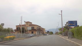 A trip from Pternopoli to Reggia di Caserta. Rural roads of Italy, Italy. May 2015 car trip accelerated video Autotravel from Pternopoli to Reggia di Caserta stock footage