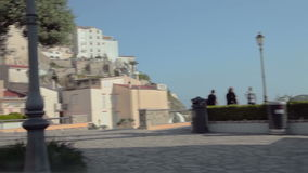 A trip from Pternopoli to Sperlonga. Rural roads of Italy, Italy. May 2015 car trip accelerated video Autotravel from Pternopoli to Sperlonga stock footage