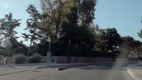 A trip from Pternopoli to Sperlonga. Rural roads of Italy, Italy. May 2015 car trip accelerated video Autotravel from Pternopoli to Sperlonga stock video