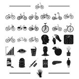Trip, rest, sport and other web icon in black style.diseases, medicine, treatment, icons in set collection. Royalty Free Stock Image