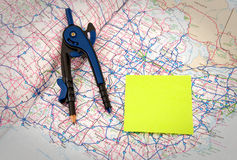 Trip Route Plan Royalty Free Stock Image