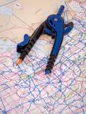 Trip Route Plan Stock Photo