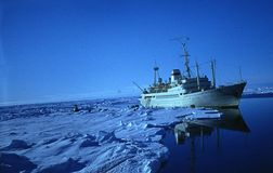 Trip from Saint Peterburg to Canarias. And Antarctica. Return to Russia Stock Images