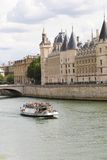 Trip on Seine River. Trip on the Seine river - Paris - France Stock Photo