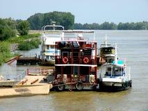 Trip with the ship on Sulina channel in Danube Delta, Tulcea, Romania Stock Photo