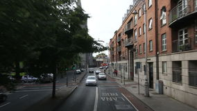 Trip through the streets of Dublin stock video footage