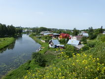 Trip in Suzdal. Summer trip in Suzdal. Green countryside Stock Photos