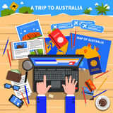 Trip To Australia Illustration Stock Photo