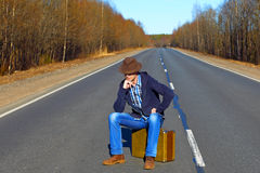 Trip to holiday. Тravel to a week-end Royalty Free Stock Photo