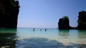 Trip to Hong Island in Thailand. Blue Lagoon at Hong Island. Landscapes near Krabi stock video