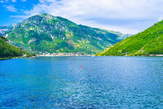 The trip to the Kotor Bay Stock Photo