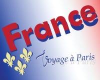 Trip to Paris. Emblem. Stock Photos