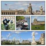 A trip to Paris, France. Different views from Paris, France Stock Photography