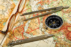 Trip to the past. Traveling in the history is an important part of education Royalty Free Stock Image