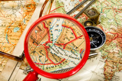 Trip to the past. Traveling in the history is an important part of education Royalty Free Stock Photography