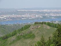 The trip to Russia. Siberia. Krasnoyarsk.Summer. stock photos