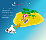 Trip to Summer holidays. Travel to Summer holidays. Royalty Free Stock Image