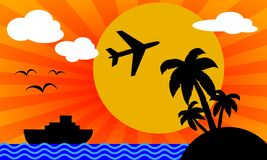 Trip to tropical island Royalty Free Stock Photography