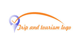 Trip and tourism logo Royalty Free Stock Images