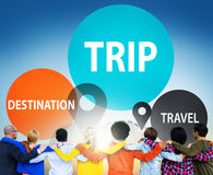 Trip Travel Destination Holiday Journey Concept Royalty Free Stock Photos