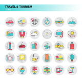 Trip Travel Tourism Icon Set Holiday Vacation Royalty Free Stock Photo