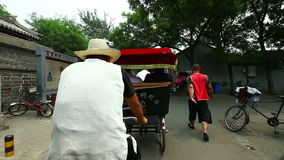 Trip on trishaw. In China stock footage