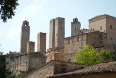 The towers of San Gimignano, Tuscany royalty free stock images