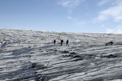 Trip on Vatnajokull glacier, Iceland Royalty Free Stock Photography