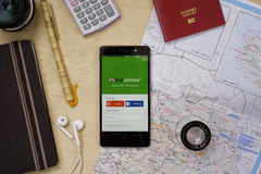 TripAdvisor applikation Royaltyfria Foton
