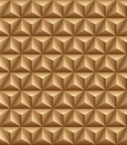 Tripartite pyramid brown seamless texture. Abstract pattern of blue trihedral pyramids. Seamless texture Royalty Free Stock Photo