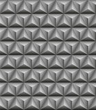 Tripartite pyramid gray seamless texture. Abstract pattern of gray stone tripartite pyramids. Seamless texture Royalty Free Stock Images