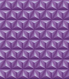 Tripartite pyramid lilac seamless texture. Abstract pattern of lilac tripartite pyramids. Seamless texture Stock Image