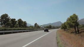 Tripcar nach Tarragona stock footage