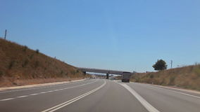 Tripcar to Tarragona. Spain, Tarragona, August 2014. The trip by car to Tarragona. Accelerated video stock video footage