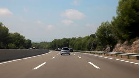 Tripcar to Tarragona. Spain, Tarragona, August 2014. The trip by car Accelerated video stock video footage