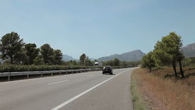 Tripcar to Tarragona. Spain, Tarragona, August 2014. The trip by car Accelerated video stock footage