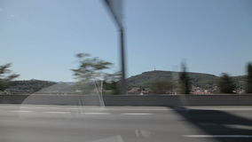 Tripcar to Tarragona. Spain, city of Calig August 2014. The trip by car. Accelerated video stock video